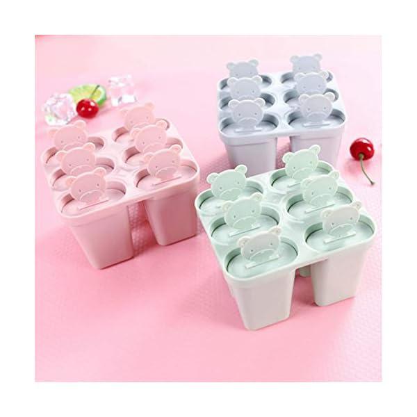 Stampo per gelato a 6 fessure con coperchio. Lyndee 6 spesavip
