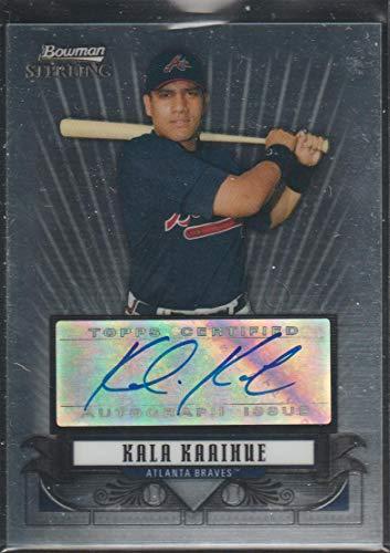 2008 Bowman Sterling Baseball - 2008 Bowman Sterling Kala Kaaihue Braves Autographed Baseball Card #BSP-KK