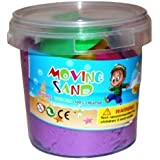 SKYFUN (LABEL) 1 Kg Magic Moving Active Never Dries Sand Clay Dough for Kids,Adults with Moulds-Assorted Color