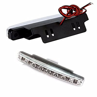 Shien(TM)2pc 8LED Daytime Driving Running Light DRL Car Fog Lamp Waterproof White DC 12V