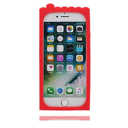 """Coque pour iPhone 7 Plus, iPhone 7 Plus Étui Cover Housse (5.5""""), TPU Material Flexible 3D Boîte à cigarettes Crâne Shell Dust Slip Scratch Resistant, iPhone 7 Plus Case et ring Support de téléphone"""