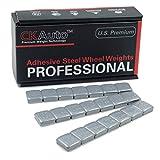 1/2oz, 0.5oz, Grey Adhesive Stick on Wheel Weights, Easy Peel, US OEM Quality, 63 oz/Box (126pcs)