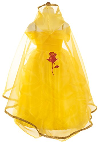 Great Pretenders Dress Up Classic Belle Gown and Cape Bundle Dress up Costume, Size 5-6 (Belle Child Costume Classic)
