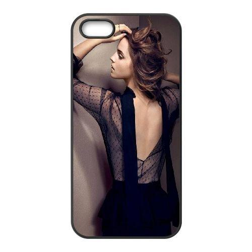 Fashion Emma Watson coque iPhone 4 4S cellulaire cas coque de téléphone cas téléphone cellulaire noir couvercle EEEXLKNBC25014