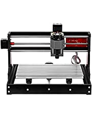 Upgrade Version CNC 3018 Pro GRBL Control DIY Mini CNC Machine 3 Axis Pcb Milling Machine Wood Router Engraver with Offline Controller with ER11 and 5mm Extension Rod Working Area 300 * 180x40mm
