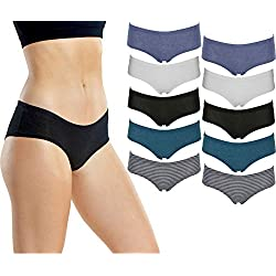 Emprella Womens Underwear Boyshort Panties Cotton/Spandex - 10 Pack Colors and Patterns May Vary (Medium, Assorted)
