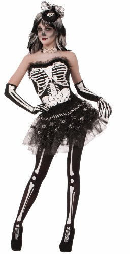 Forum Novelties Women's Bone Collection Costume Tutu, Black, One Size (Sexy Costumes Online)