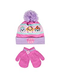 Paw Patrol Girls' Paw Patrol Hat and Gloves Set Size 4 - 6