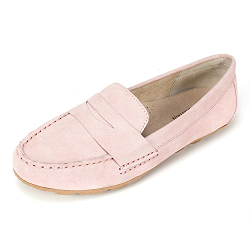 White Mountain Shoes 'Skipper' Women's Moccasin, Pink - 8 M (White Pink Shoes Leather)