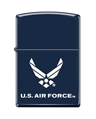 Navy Matte Lighter - Zippo US Air Force Emblem Pocket Lighter, Navy Matte