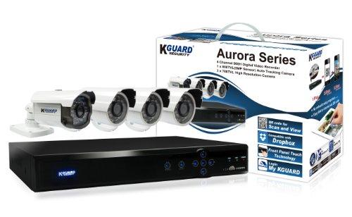 KGUARD SecurityInc. AR421-CKT001-500GB Aurora Series Home Security System 4 Channel