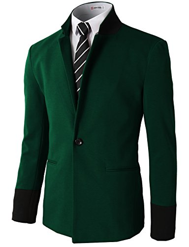 H2H Mens Slim Fit Stylish Casual One Button Suit Coat Jacket Business Blazers