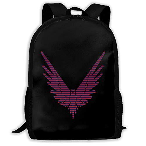 Red Blue Stripe Logan Paul Unisex Backpack Shoulder Bag School Backpack Travel Bags Laptop ()