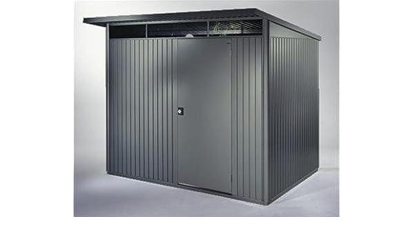 Biohort Caseta con puerta doble, color gris oscuro metalizado: Amazon.es: Jardín