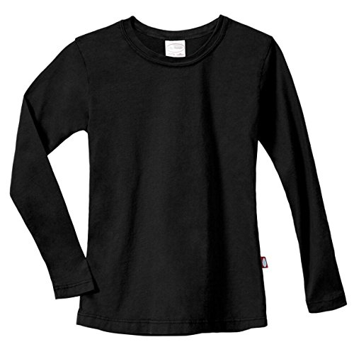 City Threads Girls Cotton Long Sleeve Tee Tshirt for School and Lounging USA Made