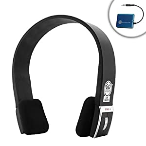 Wireless Bluetooth TV Headphone Headset Kit with Transmitter Adapter System for Samsung , Vizio , LG & More HD Televisions by GOgroove - Great for Private Listening and Noise Isolation - 3.5mm Input
