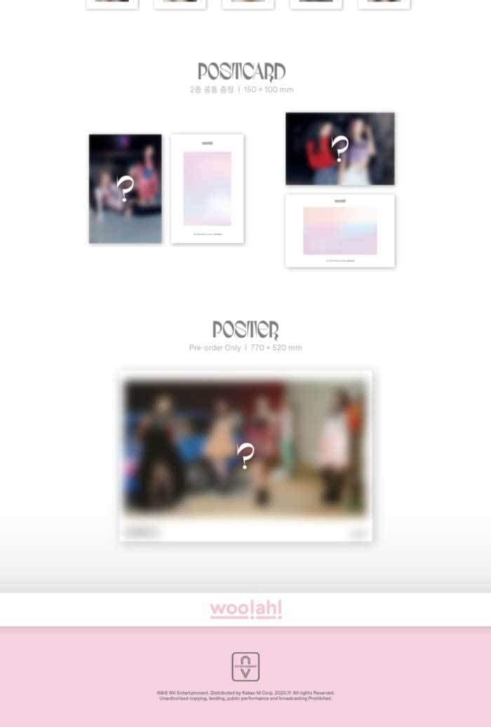 Qurious 2nd Single Album CD+76p PhotoBook+2p PhotoCard+1p 4 Cut Photo+2p Postcard+Message PhotoCard Set+Tracking Kpop Sealed Woo!ah