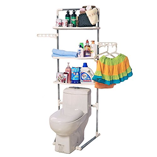 Baoyouni 3-Tier Bathroom Organizer Over Toilet, Stainless Steel Material,Ivory by Baoyouni
