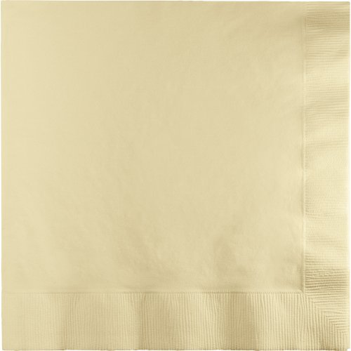 250-Count Touch of Color 3-Ply Paper Dinner Napkins, Ivory 3 Ply Paper Napkin