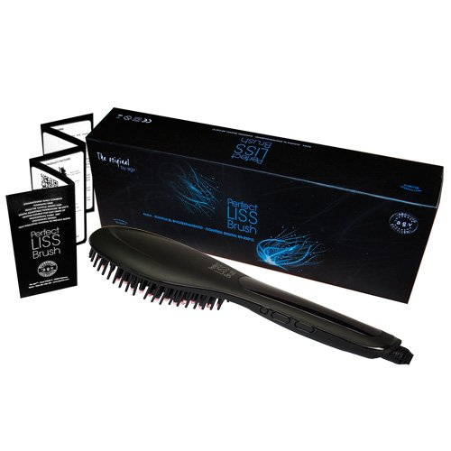 Cepillo alisador electrico A.G.V Perfect Liss Brush color NEGRO MATE: Amazon.es: Belleza