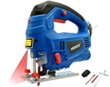 HERZO Electric Jigsaw Laser Guide 800W 丨Variable Speed Control, Rip...