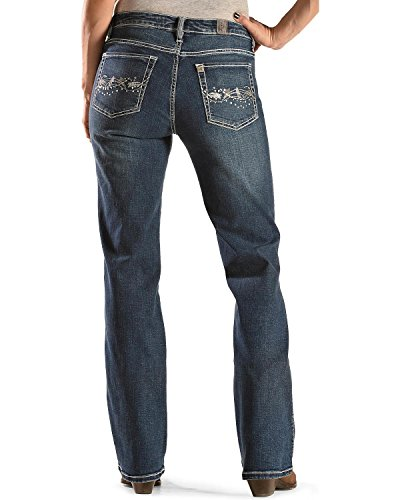 Wrangler Women's Aura Instantly Slimming Bootcut Jeans Denim 4 A (Aura Instantly Slimming Jeans)