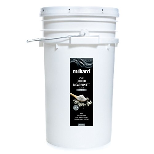 Milliard Sodium Bicarbonate USP - 50 Pound Bulk Resealable Bag (AKA Baking Soda/Bicarbonate of (10 Lb White Pool)
