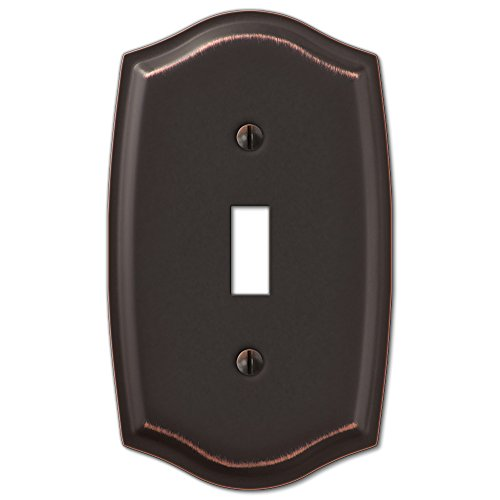 Single Toggle Switch Plate Outlet Cover Rocker Toggle Light Wall Plate - Oil Rubbed Bronze ()