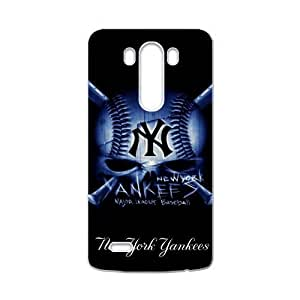 Hoomin Black Cool New York Yankees Pattern LG G3 Cell Phone Cases Cover Popular Gifts(Laster Technology)