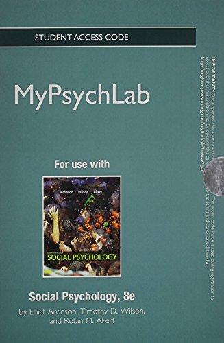 Social Psychology MyPsychLab Access Card (Mypsychlab (Access Codes))