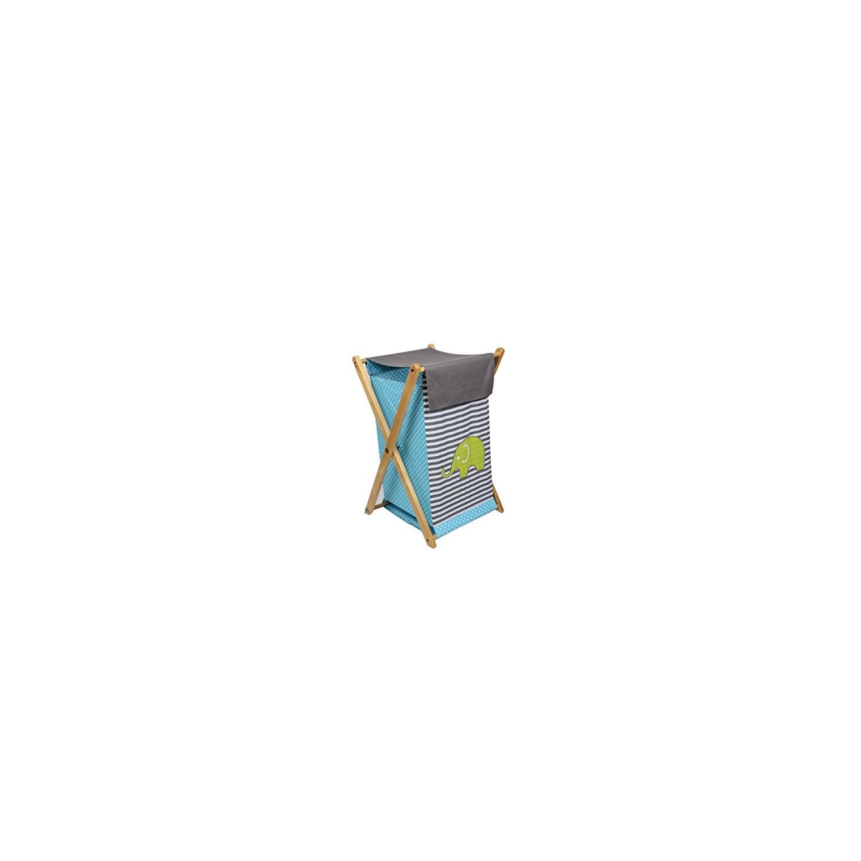 Bacati – Elephants Aqua/Lime/Grey Hamper