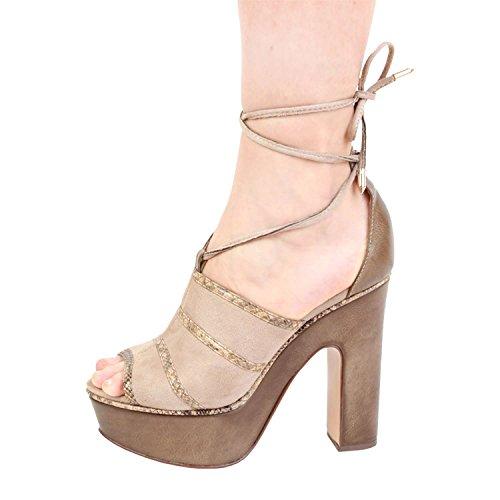6d17b8f2e82 Ana Lublin OTACILIA Sandalias Con Cordones Para Mujer Tacón 125 cm ...