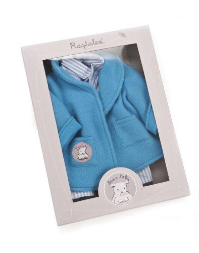 Darcy Bear - Ragtales Rag Tags Blue Pajamas Robe Set Outfit Darcy Bear Bo Bunny