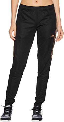 adidas Women's Tiro17 TRG Pant, Black/Rose Gold Metalic, X Small