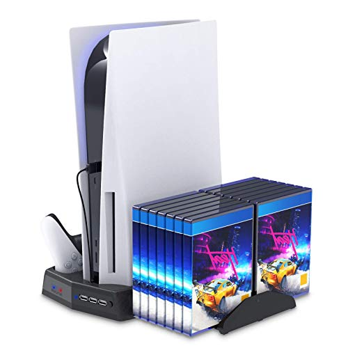 eWINNER Multifuncation Console Vertical Stand, 2 Cooling Fan, 2 controller Dock, Game Rack Storage Organizer USB output…
