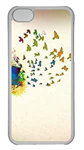 Birds Of Spring Custom iPhone 5C Case Cover Polycarbonate Transparent by lolosakes