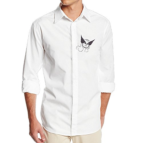 Hawkgirl Mask (Men's Super Hawkgirl Solid Dress Shirt Fashion Button Down Shirt Small)