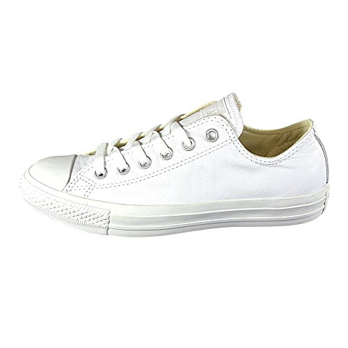 Converse Ctas Mono Ox Cuir - Zapatillas unisex White Leather