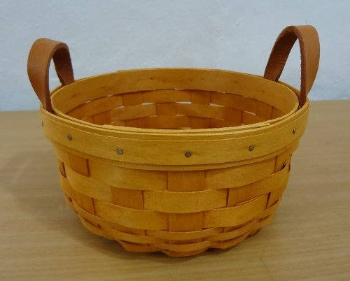 Longaberger Longaberger 7 Round Basket 2001 With 2: longaberger baskets for sale