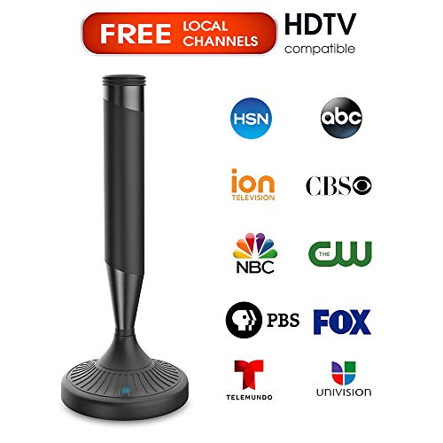 Digital TV Antenna for Indoor - HDTV Antenna with Amplifier Signal Booster for 4K HD Local Channels with Coaxial Cable Ultra High Definition TVs,Amplified 120 Mile Range Ultra 4K TV Antennas (Best Hdtv Indoor Antenna Amplifier)