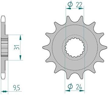 AFAM Kettensatz X-Ring verst/ärkt SUZUKI RM-Z 450 K8,K9,L0,L1