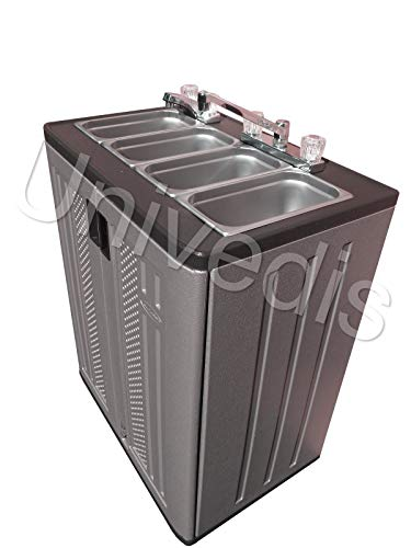 Portable concession sink self contained triple