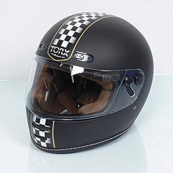 Torx Casque Moto Vintage Barry Legend Racer Black Mat Taille L Noir