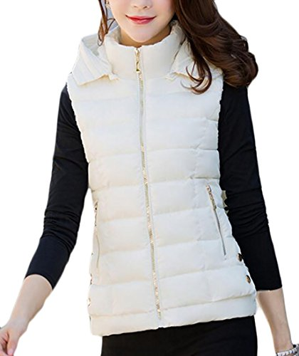 Vest today UK Down 5 Stand Puffer Quilted Outwear Hooded Collar Womens Warm 71n7qaOz