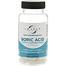 Lovely Warrior - Boric Acid + Probiotic Feminine Health Support, Made in USA (30 Suppositories)