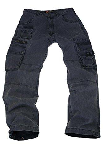 Kakadu Traders Australia robuste Outdoor Herren Cargo Hose mit vielen Taschen und Extras in braun, khaki, blau und schwarz