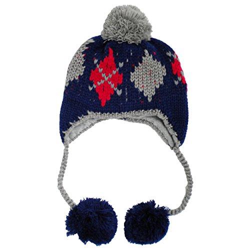 Huggalugs Preppy Argyle Boys Beanie Hat S