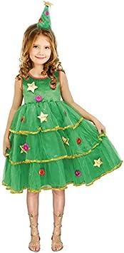 Disfraz Árbol de Navidad para niña 7-9 años: Amazon.es: Juguetes ...
