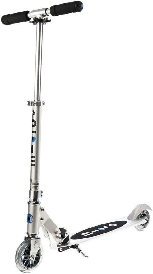 Micro® Sprite, Original Design, Patinete 2 Ruedas Plegable, +6 Años, Peso 2,85kg, Carga Máx 100Kg, Aluminio, Plataforma Antideslizante, Rodamientos ABEC 9 (Aluminio)
