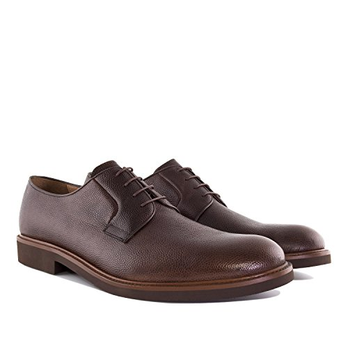Andres Machado.5811.Mens Grained Leather Lace-Up Shoes.Made In Spain.Mens Large Sizes: US M13 To M16 Brown Grained Leather mtpbQNgf4h